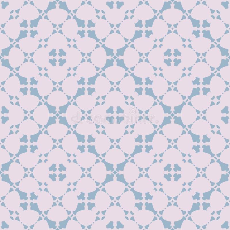 摘要花卉无缝的样式 在淡色的微妙的几何装饰品 库存例证