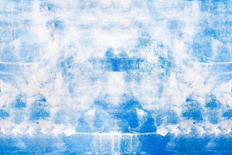 摘要蓝色被绘的表面,背景/纹理 库存图片