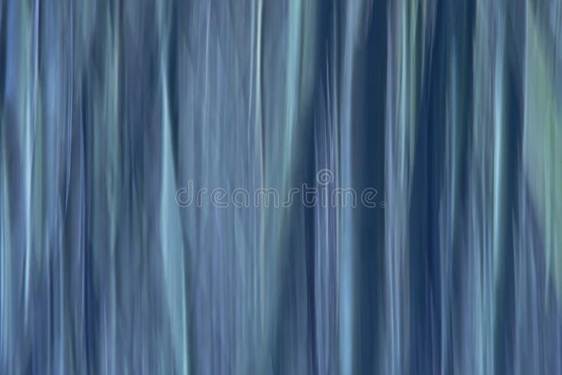 摘要行动迷离与垂直线的背景在冷的蓝色色彩 图库摄影
