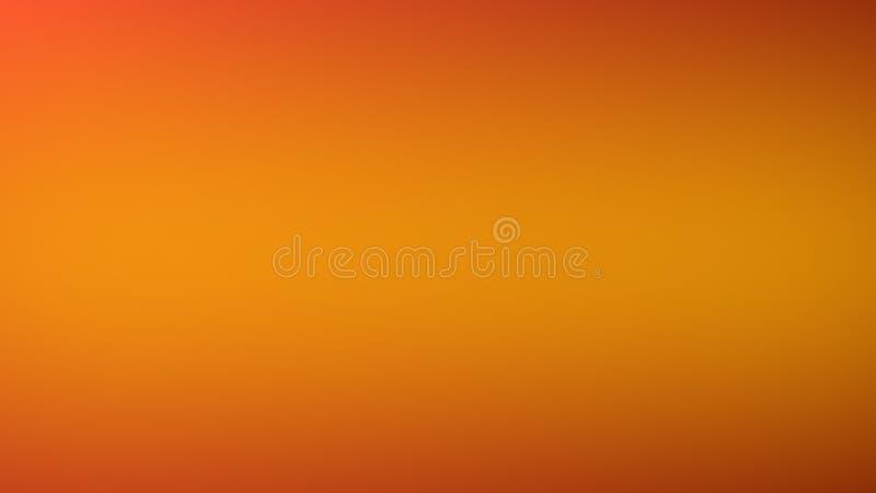 摘要被弄脏的橙色梯度背景 五颜六色的光滑的横幅模板 向量例证
