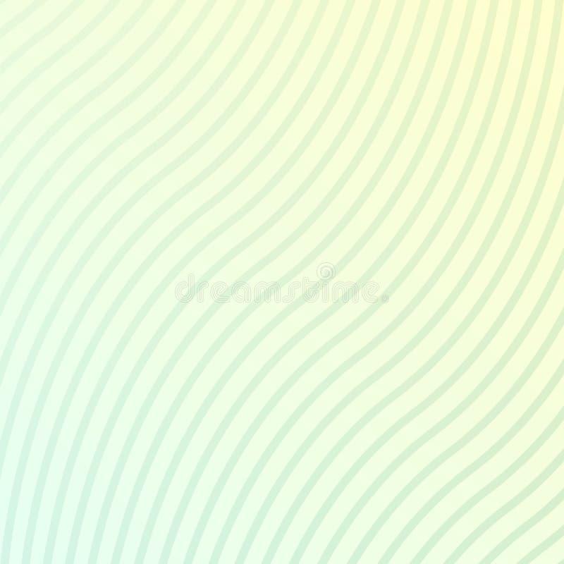 摘要被弄脏的波浪背景 也corel凹道例证向量 在镇静颜色的弯曲的条纹 向量例证