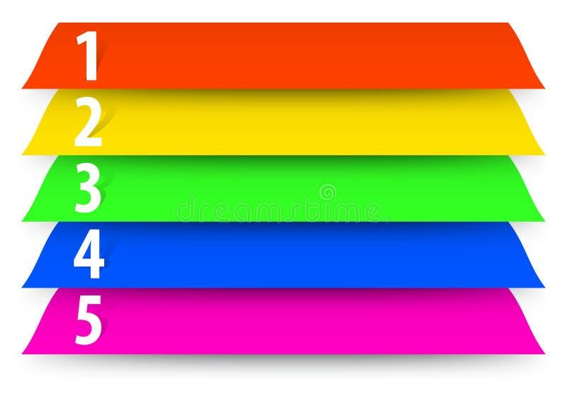 摘要被编号的颜色横幅模板