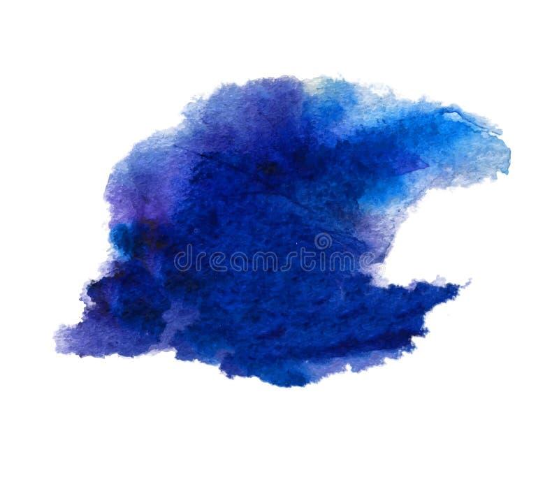摘要被隔绝的水彩污点湿纹理 向量例证