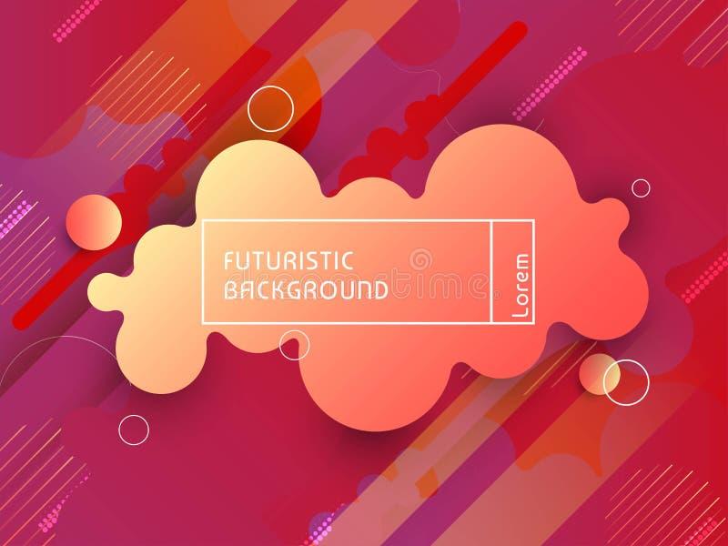 摘要装饰未来派techno背景 库存例证