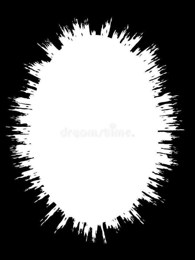 摘要装饰黑&白色照片边界/边缘 类型文本里面,使用作为覆盖物或为层数/剪报面具 向量例证