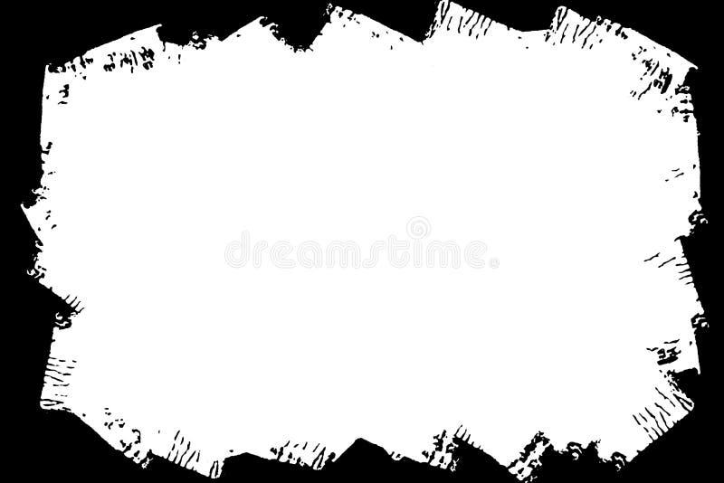 摘要装饰黑&白色照片边界/边缘 类型文本里面,使用作为覆盖物或为层数/剪报面具 库存例证