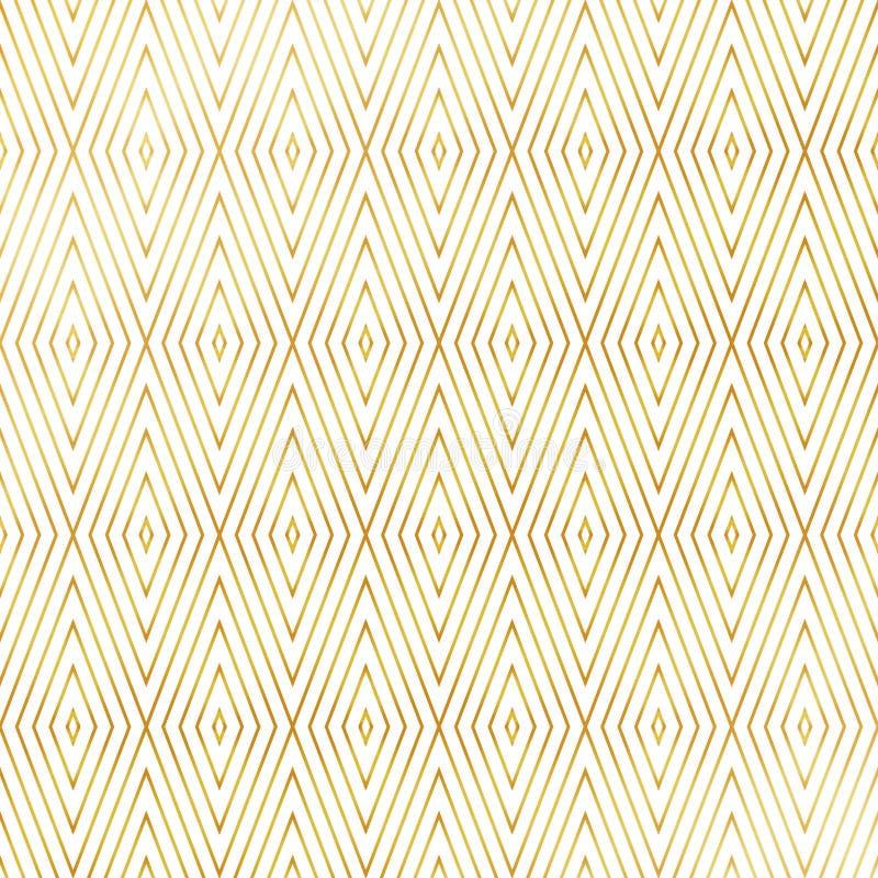 摘要豪华方形的三角塑造金黄样式样式背景 您能为艺术装饰设计艺术品使用 库存例证
