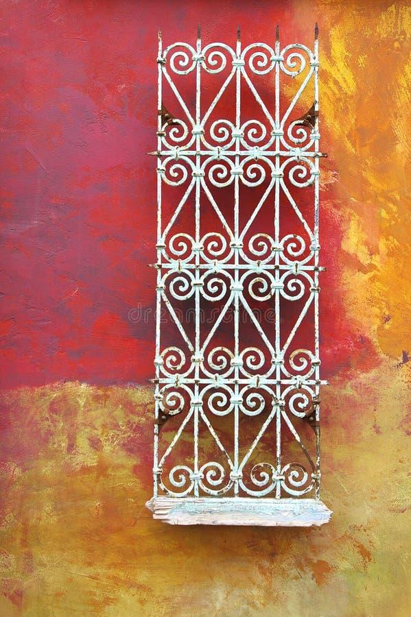 摘要退了色grunge被绘的墙壁 免版税库存图片