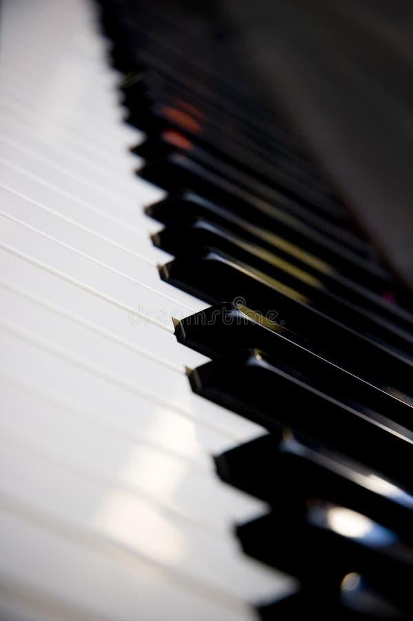 摘要锁上钢琴 免版税库存图片