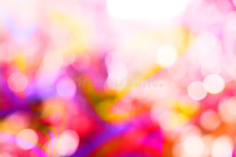 摘要霓虹可变的迷离自然本底,桃红色 库存图片