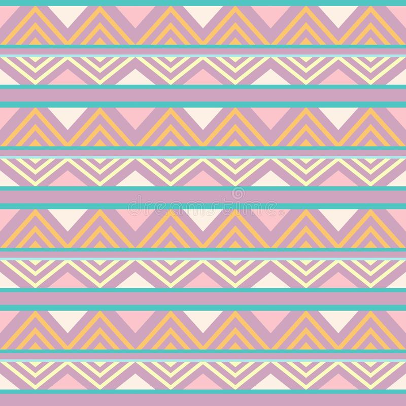 摘要非洲无缝的纺织品样式设计4 库存例证