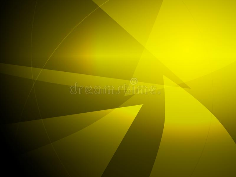 摘要黄色几何形状设计背景 向量例证