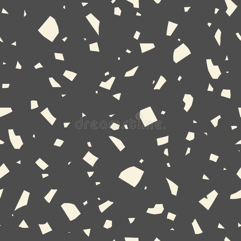 摘要黑暗的无缝的样式,传染媒介磨石子地纹理 经典意大利背景 皇族释放例证