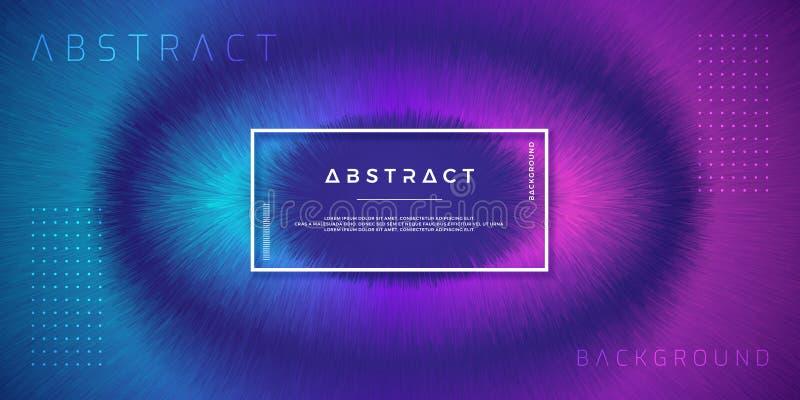 摘要,动态,现代背景您的设计元素的和其他,与紫色和浅兰的梯度颜色 库存例证