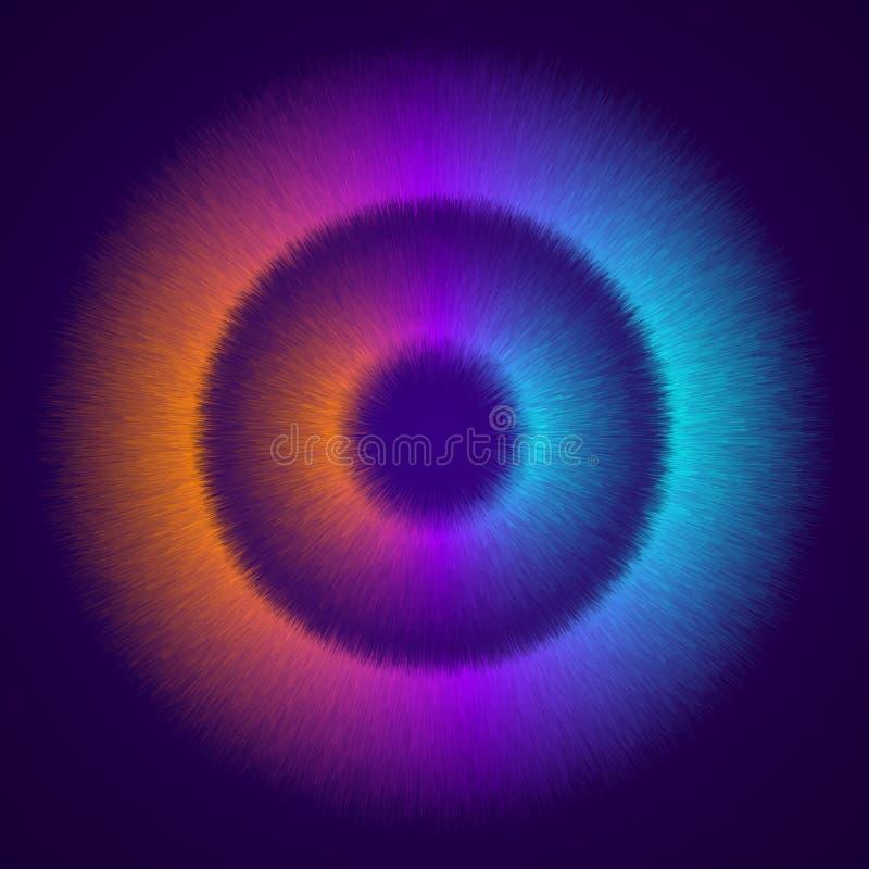 摘要,动态,现代背景您的设计元素的和其他,用桔子,紫色和浅兰的梯度颜色 皇族释放例证