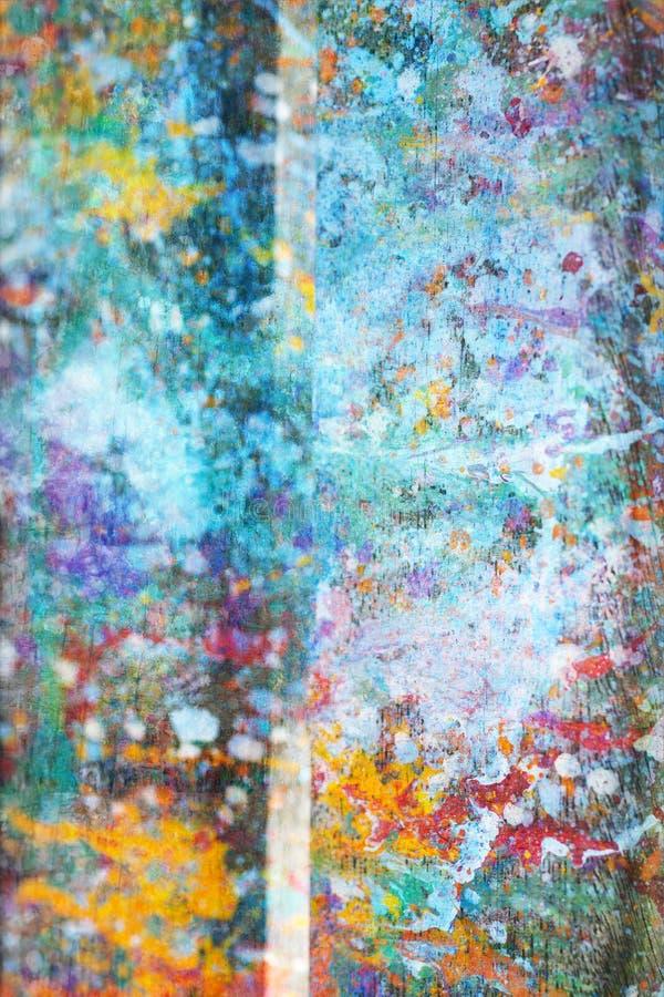 摘要,手画五颜六色的木背景 免版税库存图片