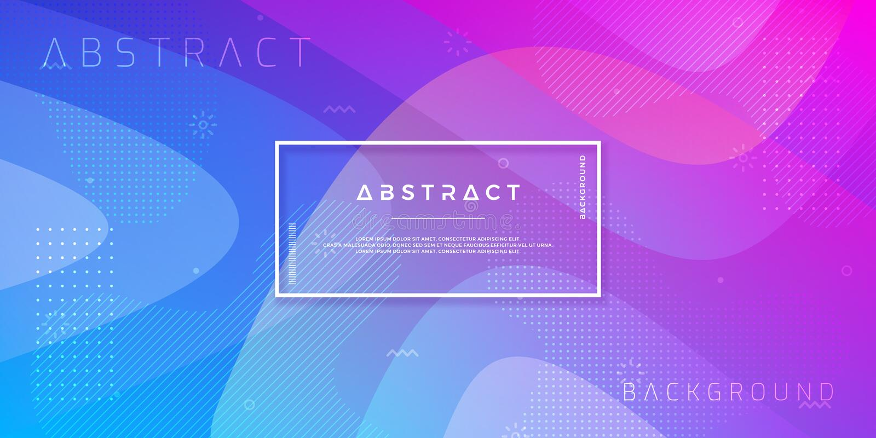 摘要,现代,动态,时髦梯度背景 蓝色紫色传染媒介背景 库存例证