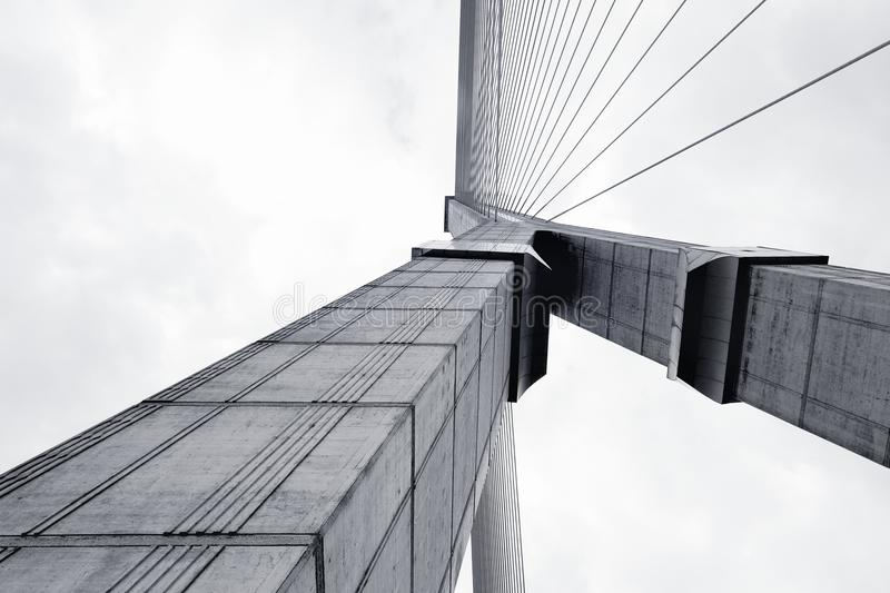 摘要结构桥梁 免版税库存照片