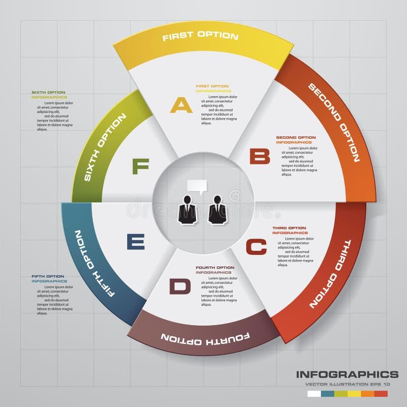 摘要6步企业介绍模板 设计干净的数字横幅模板 皇族释放例证