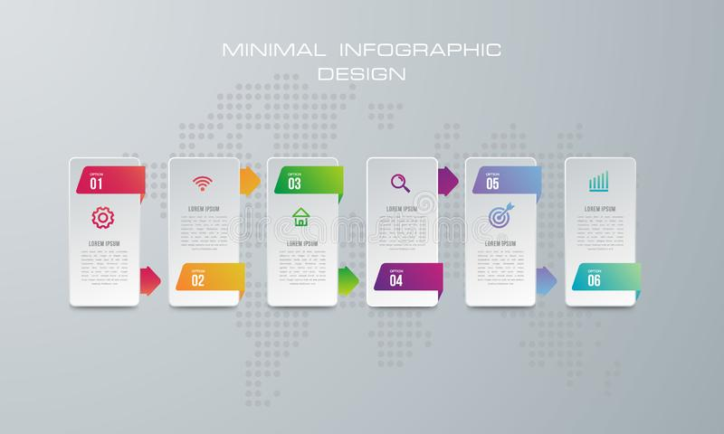 摘要3D数字例证Infographic 向量例证