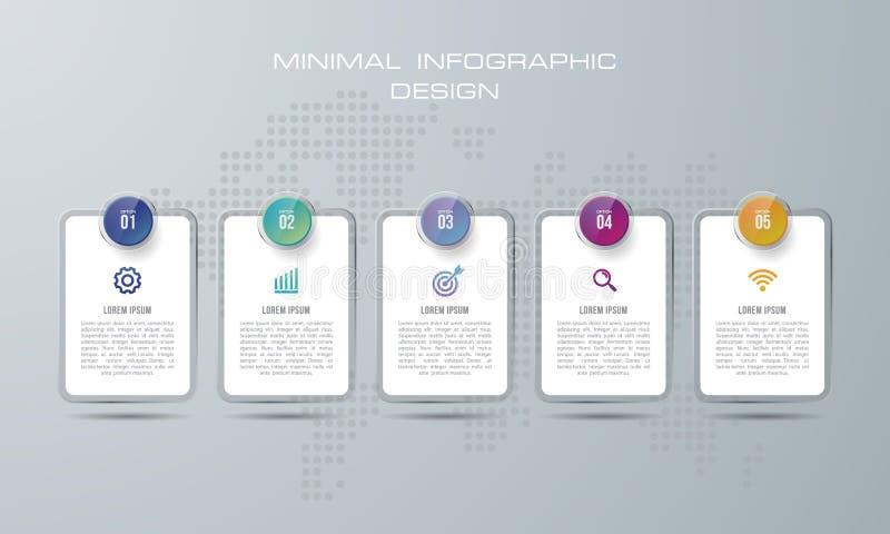 摘要3D数字例证Infographic 使用为工作流布局,图,数字选择,网络设计 o 皇族释放例证