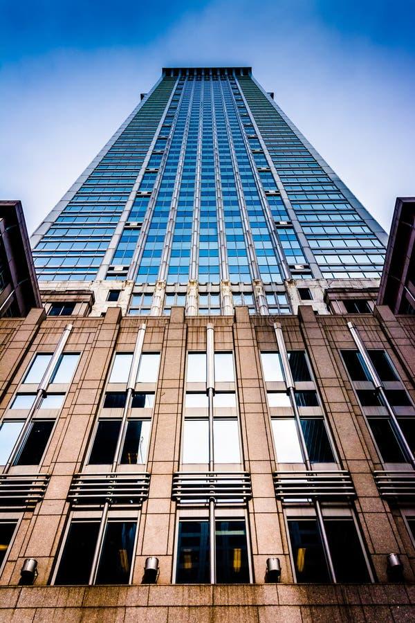 摩天大楼在中心城市,费城,宾夕法尼亚 库存照片