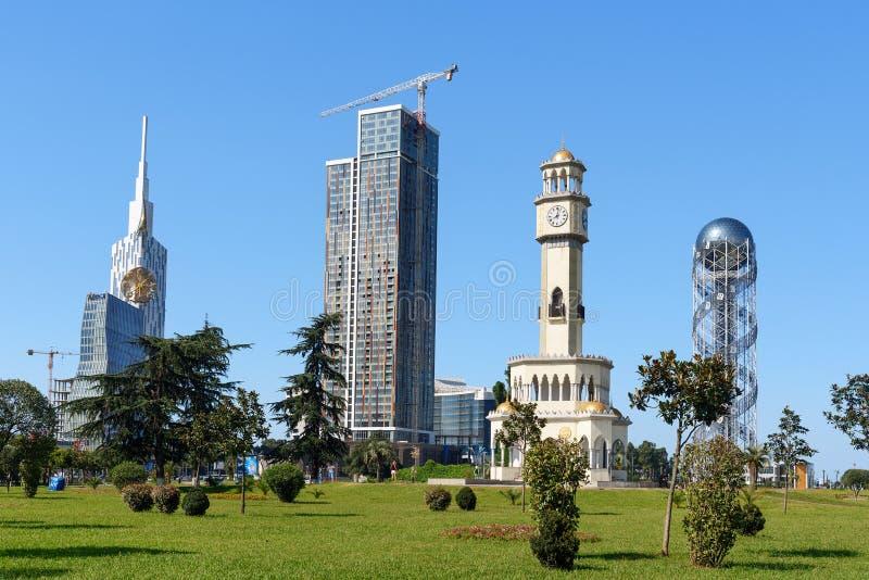 摩天大楼在奇迹公园 巴统 佐治亚 库存照片