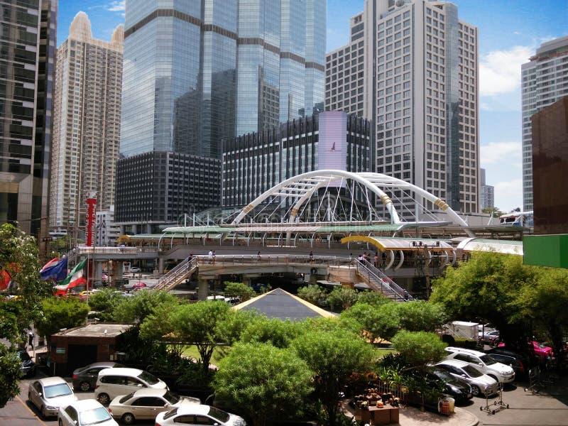 摩天大楼在曼谷市 库存照片