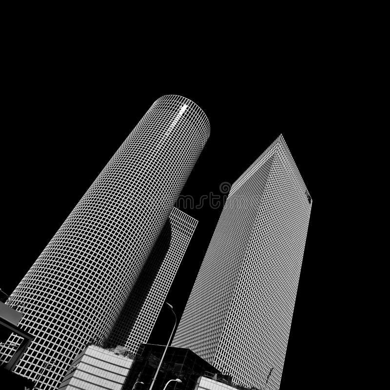 摩天大楼在特拉唯夫的中心 库存照片