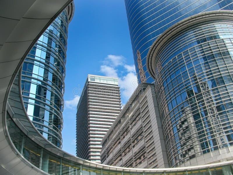 摩天大楼在街市休斯敦得克萨斯 免版税库存照片