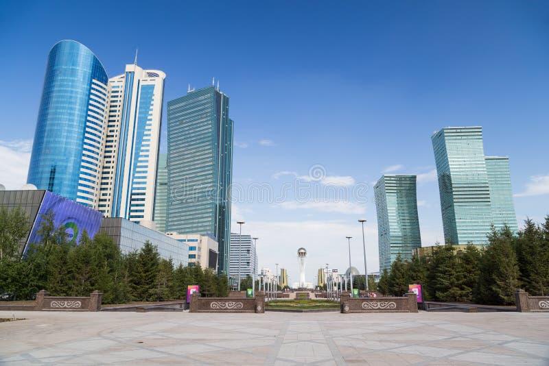 摩天大楼在阿斯塔纳,哈萨克斯坦 库存照片