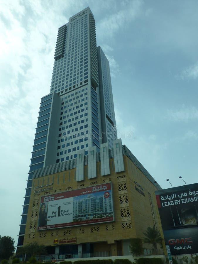 摩天大楼在阿联酋 库存照片