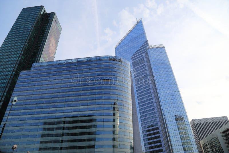 摩天大楼在巴黎- La Defanse 免版税库存照片