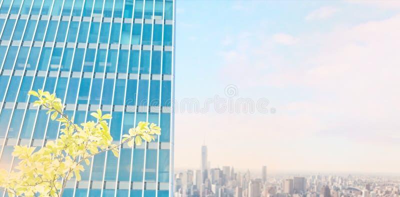 摩天大楼看法的综合图象反对天空的 皇族释放例证