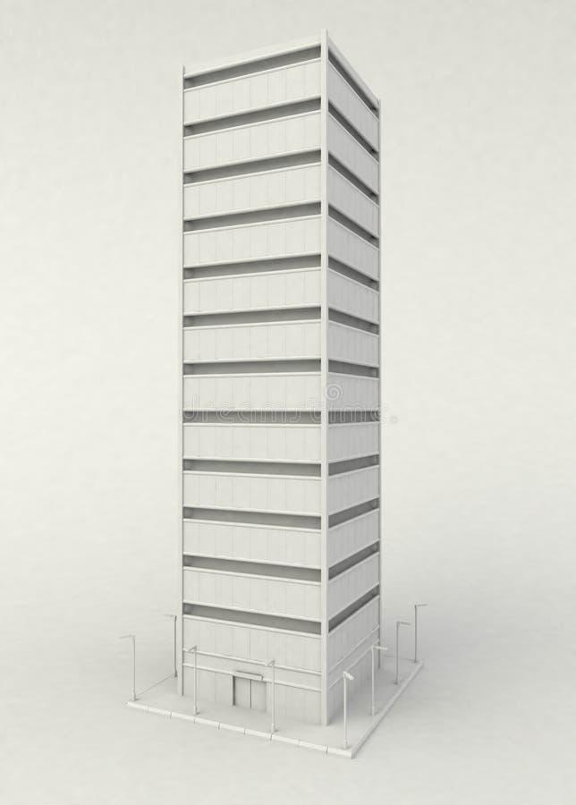 摩天大楼立场白色 皇族释放例证