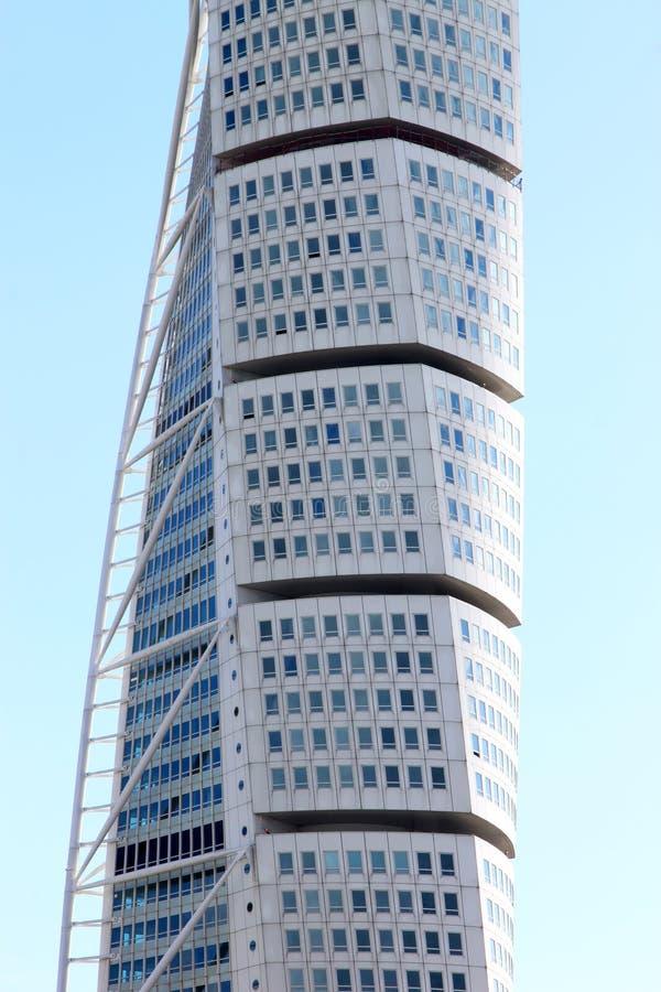 摩天大楼转动的躯干, Malmö,瑞典 库存照片