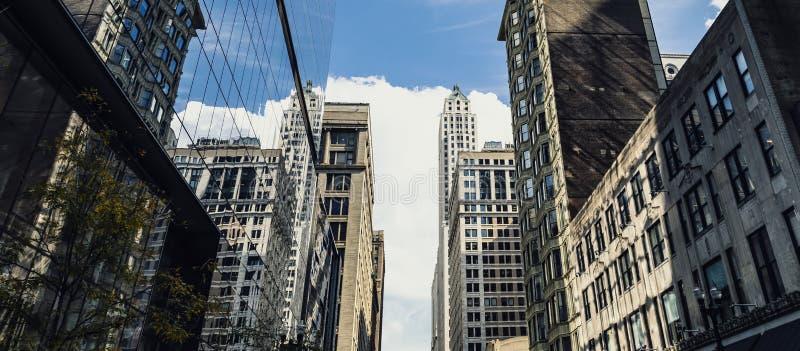摩天大楼镜子,芝加哥 库存图片