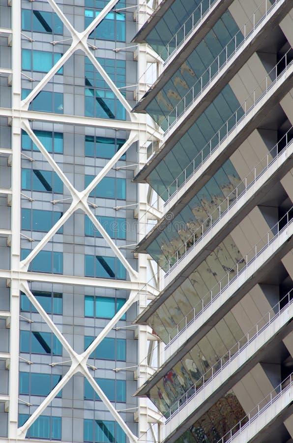 摩天大楼门面-现代建筑学细节 图库摄影