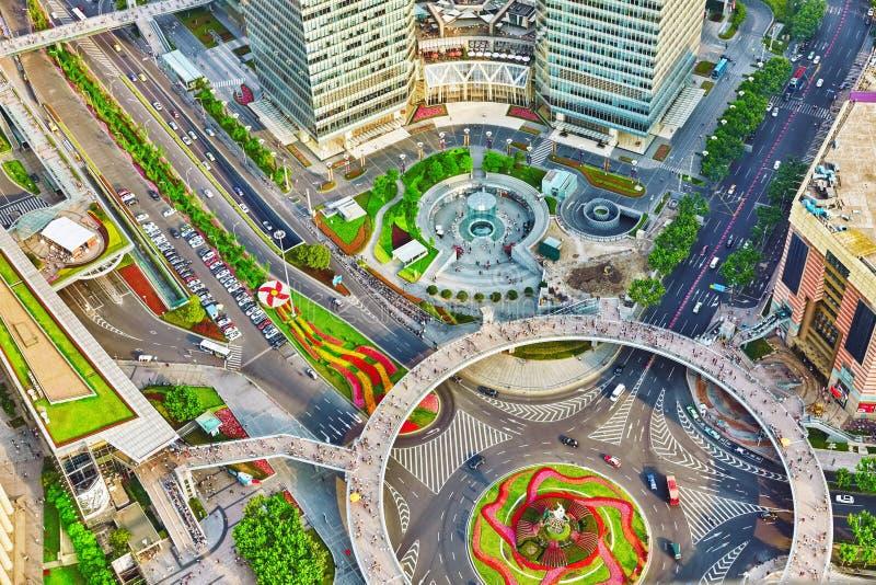 摩天大楼,市大厦浦东,上海,中国 库存图片
