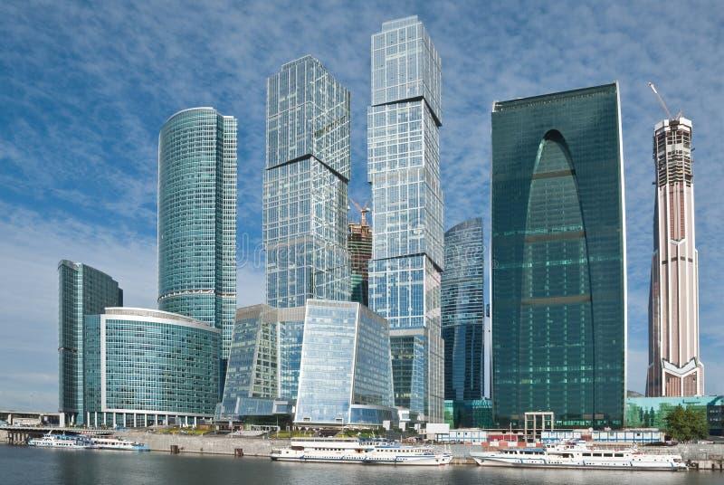 摩天大楼,莫斯科 免版税库存照片