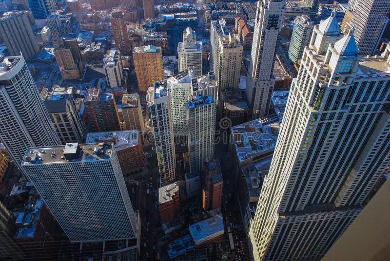 摩天大楼从上面 免版税库存图片