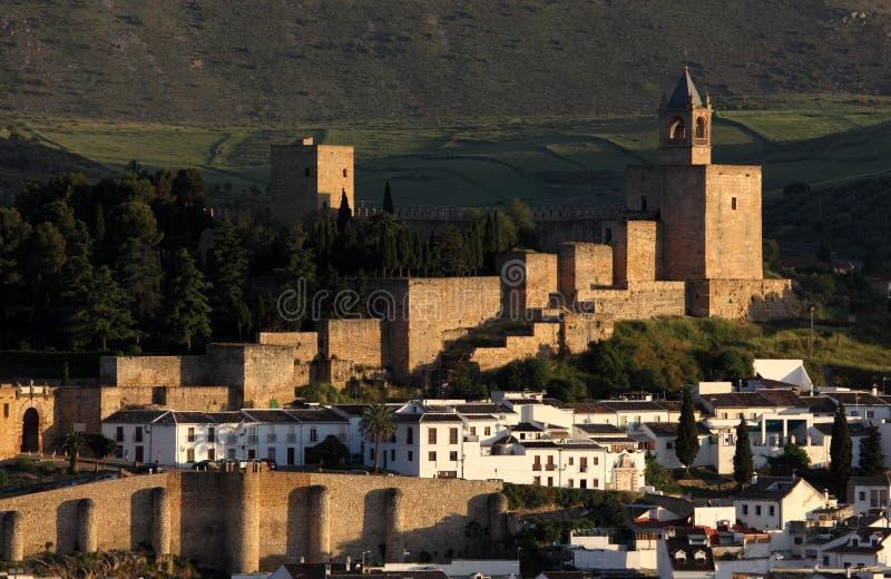 摩尔人城堡在安特克拉,西班牙 免版税库存图片