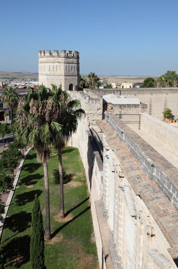 摩尔人城堡在赫雷斯。 西班牙 免版税库存图片