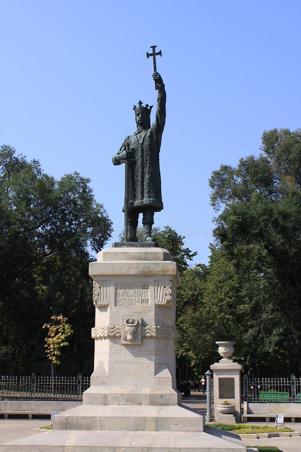 摩尔多瓦基希纳乌纪念碑斯蒂芬cel母马 免版税库存图片