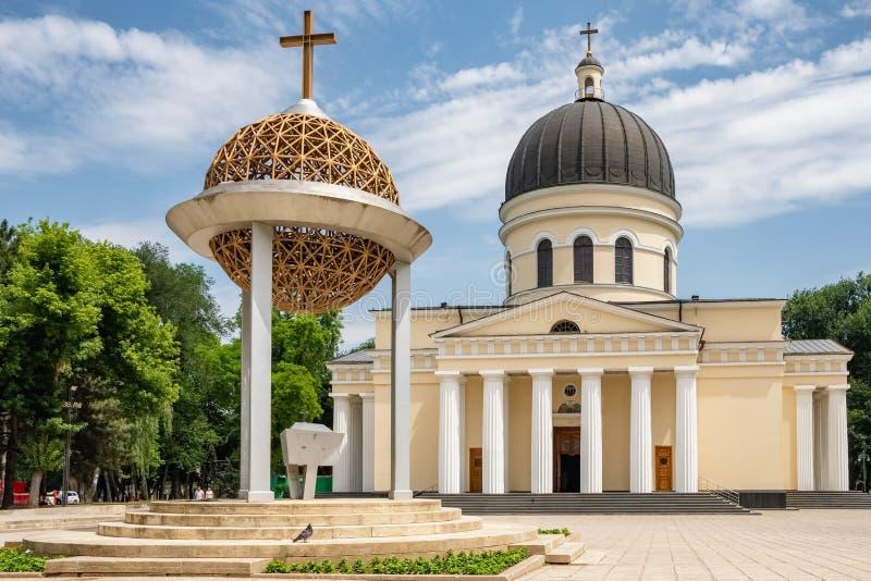 摩尔多瓦基希讷乌圣主教座堂 免版税库存图片