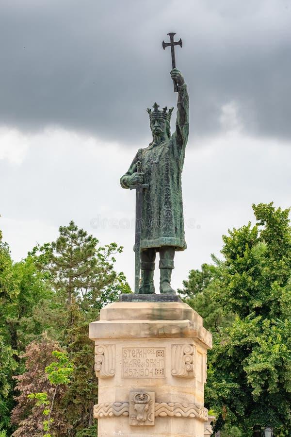 摩尔多瓦基希讷乌斯特凡塞尔马雷纪念碑 库存图片