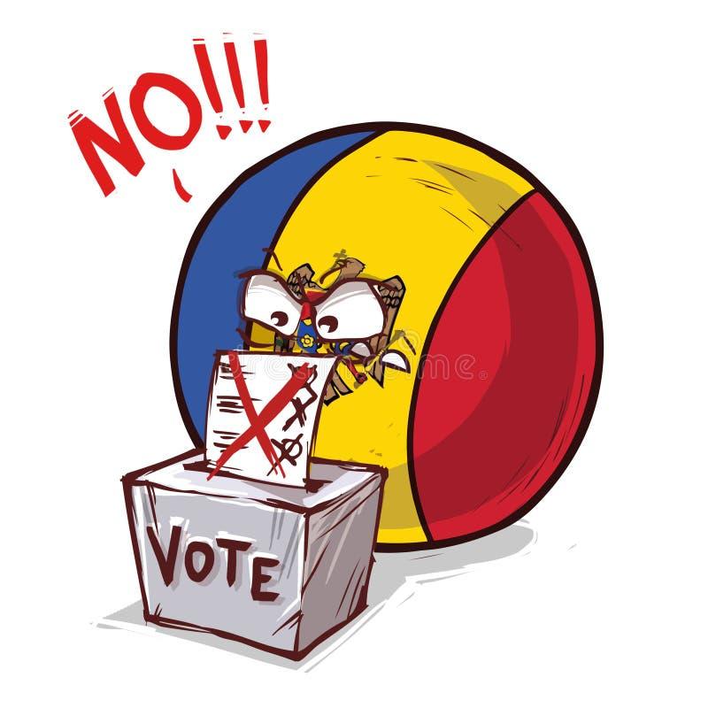 摩尔多瓦投反对票国家的球 向量例证