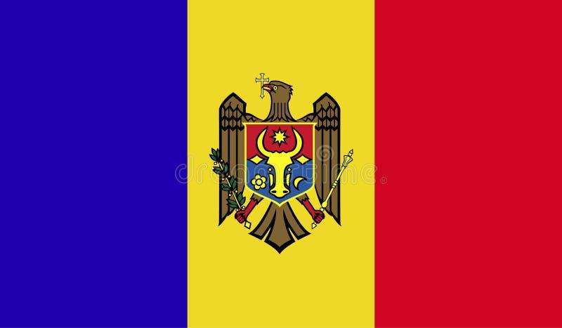 摩尔多瓦旗子图象 向量例证