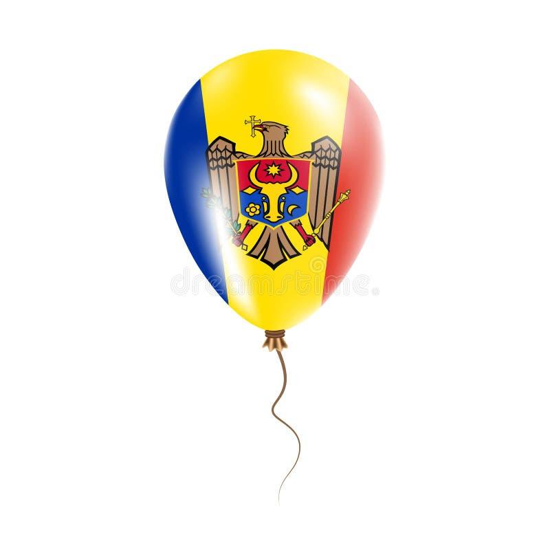 摩尔多瓦,有旗子的气球共和国 向量例证