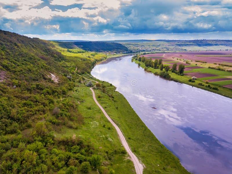 摩尔多瓦,高处空中射击奇迹河 库存照片